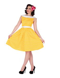 Dolly & Dotty Cindy Yellow Polka Dot Dress