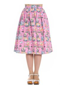 Hell Bunny 50s Maxine Flamingo Sunset Rockabilly Skirt