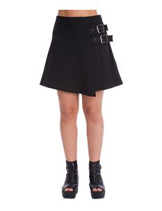 Banned Alternative Dull Moon Black Kilt Mini Skirt
