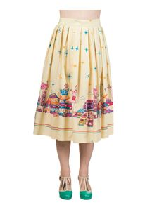 Fifties Style USA Diner Skirt By Banned Apparel UK 10