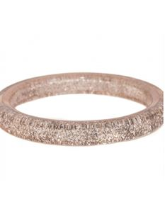 Splendette Silver Glitter Bangle