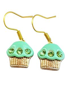 Shazazz Jewellery Green Cup Cake Earrings