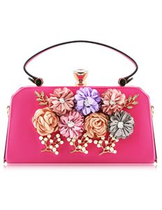 Love Me Floral Cross Body Bag In Pink
