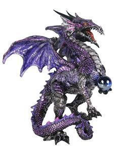Nemesis Now Purple Dragon Protector Ornament Statue