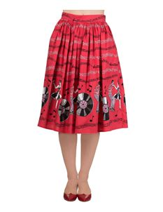 Dancing Days Empower 50s Music Jive Record Skirt