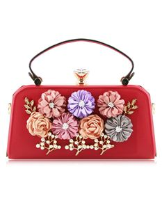 Love Me Floral Cross Body Bag In Red