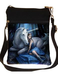 Nemesis Now Blue Moon Unicorn Bag By Anne Stokes