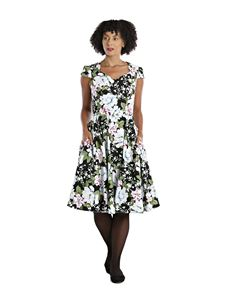 Hell Bunny Alba Winter Floral 50s Style Dress