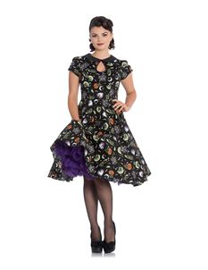 Hell Bunny Salem 50s Halloween Ghost Pumpkin Dress