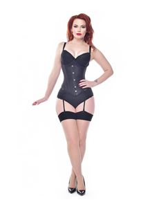 Pamela Mann 40's 50's Jive Seamed Nude/Black Stockings