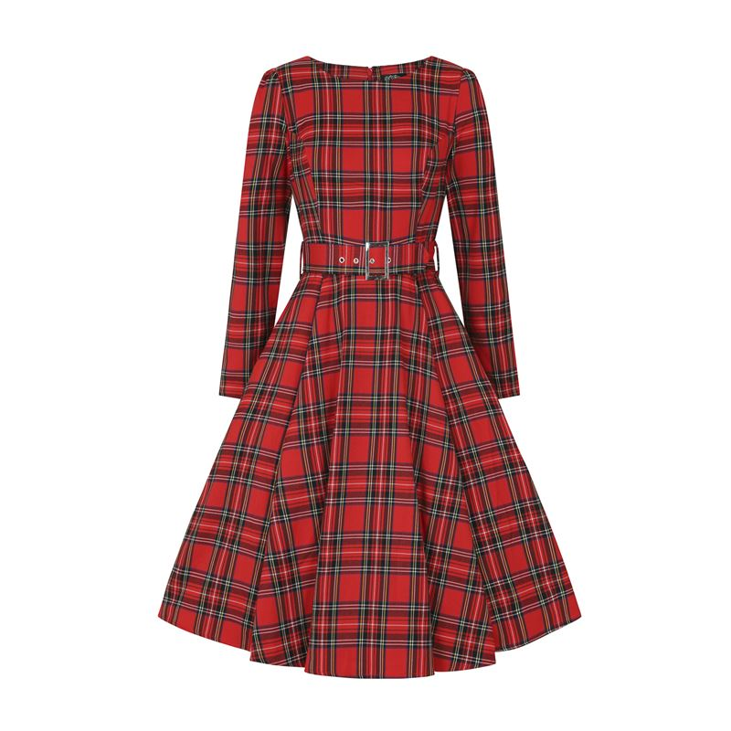 Hearts & Roses Highland Tartan Check 50s Style Dress
