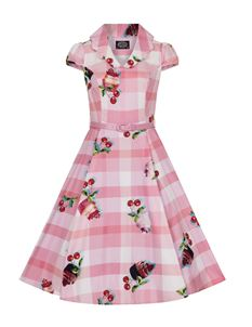 Hearts & Roses 1950's Cherry And Cupcake Tea Dress