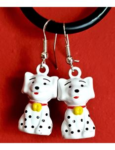 Shazazz Jewellery Spotty Dog Earrings With Bell