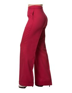 Banned Party On Wide Leg 40s Style Trousers Plain