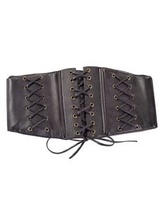 Banned Allure Faux Leather Elastic Alternative Belt