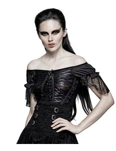 Punk Rave Belladonna Gothic Corset Alternative Top