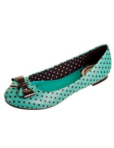 Banned Apparel Mint Polka Vintage Retro Pumps