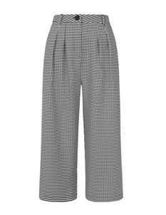Hell Bunny Harvey Houndstooth Culottes Cropped Trousers