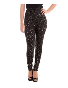 Collectif Nomi Black and Gold Atomic Star 50s Style Trousers