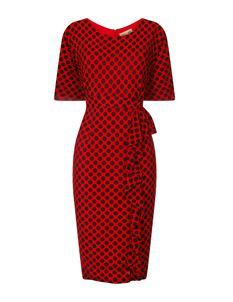 Lindy Bop Angelina Red Polka Dot Wiggle Pencil Dress