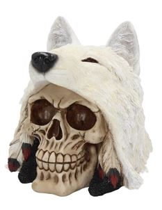 Nemesis Now Night Wolf Skull Alternative Ornament
