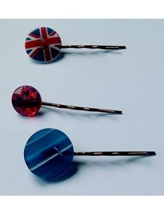 Said Lucy Red, White And Blue Bobby Pins