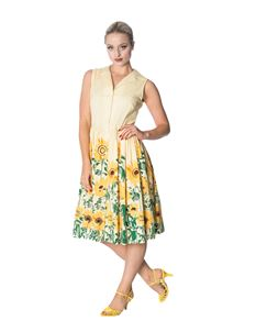 Banned Sunflower Shirt Summer 1950s Style Dress