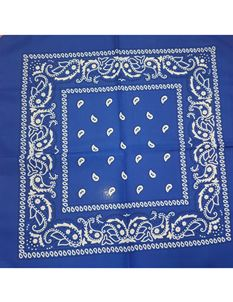 Rockabilly Paisley Head/Neck Scarf Full Square