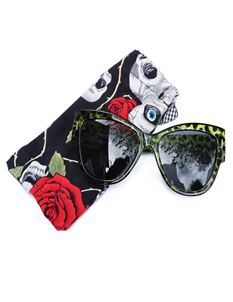 Guns N Posies Green Leopard Retro Frame Sunglasses