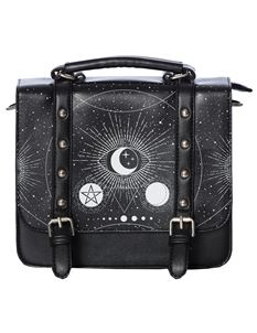 Banned Cosmic Moon Phases Eye Small Satchel Bag