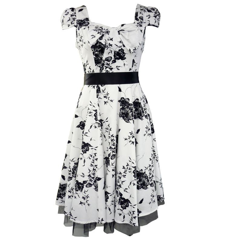 White 50s dresses uk sale