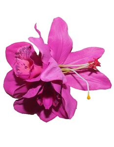 Minx's Accessories Fuscia Lily And Orchid Hair Clip