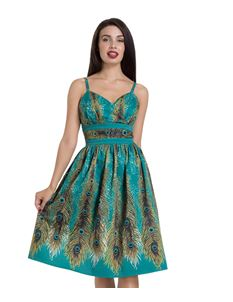 Voodoo Vixen Hattie Peacock Green Evening Dress