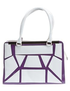 Poisoned Maze Bowling Bag White & Purple