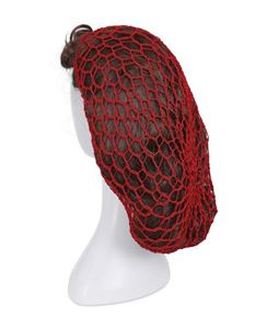 Collectif Margaret Red Crotchet Hair Snood Net