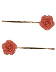 Said Lucy Orange And Gold Coloured Bobby Pins