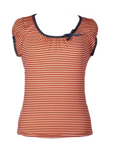 Friday On My Mind Sailor Nautical Striped Jersey Top