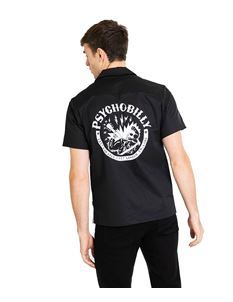 Chet Rock Psychobilly Retro Style Mens Bowling Shirt