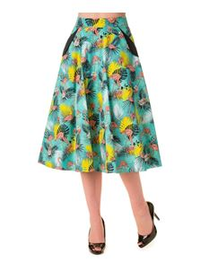 Banned Wanderlust 50s Style Flamingo Tropical Circular Skirt