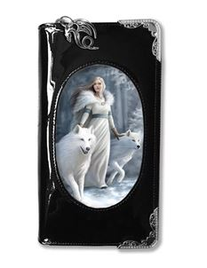 Anne Stokes 3D Lenticular Winter Guardians Wolf Purse
