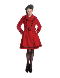 Hell Bunny Millie Nautical Winter Coat