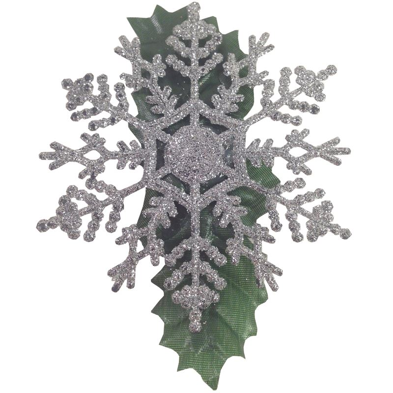 Voodoo Betty Handmade Silver Snowflake Hair Clip