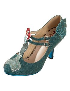 Dancing Days Stella Mermaid Shoes In Teal