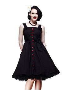 Hell Bunny 50's Dress Gery Red