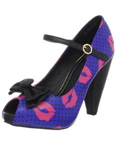 UK 3 TUK Kiss Of Death rocket Shoes Purple & Pink