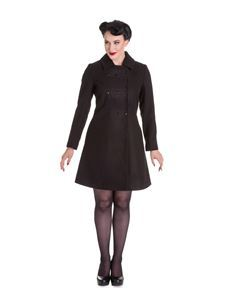 Hell Bunny Kira Military Braid Coat Black