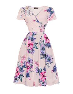 Lady Vintage Voluptuous Lyra Feminine Floral Dress