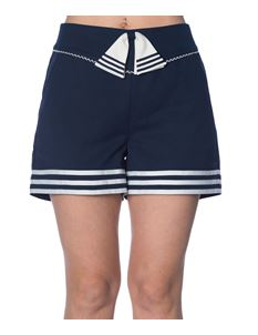 Banned Navy Set Sail Pin Up Shorts