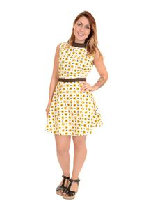 Run & Fly 60s Retro Mod Daisy Dot Mini Dress