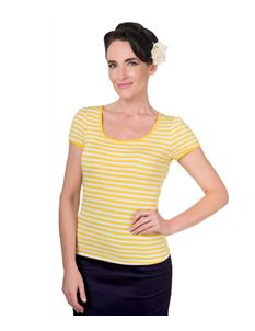 Dolly & Dotty Gina Yellow Stripe Top